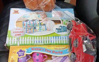 новогодние подарки в дошкольную группу Арефинской общеобразовательной школы