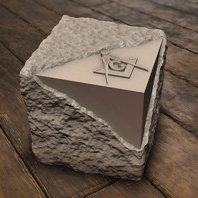 грубый и совершенный камни