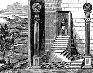 привратник-масон у входа в Храм