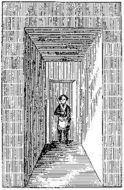 старое изображение привратника у входной двери масонской ложи